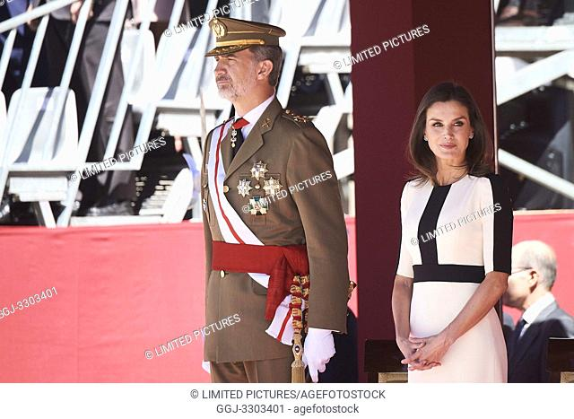 King Felipe VI of Spain, Queen Letizia of Spain attends 175th anniversary of the founding of the Guardia Civil at Royal Palace on May 13, 2019 in Madrid, Spain