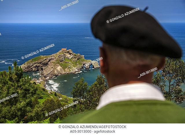 San Juan de Gaztelugatxe . Bermeo. Coast of Biscay. Urdaibai Region. Bizkaia. Pais Vasco. Basque Country. Spain