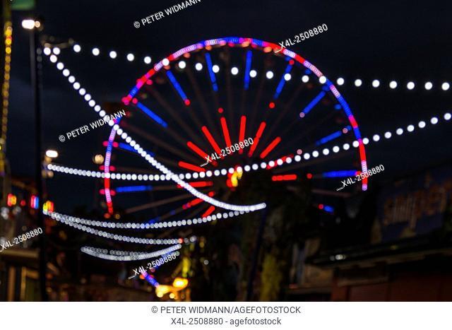 Blumenrad, Ferris wheel in the Prater, amusement park, Prater, Vienna, Austria, Europe