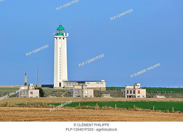 The lighthouse phare d'Antifer at Cap d'Antifer near Etretat, Upper Normandy, France