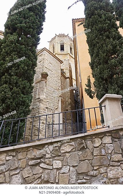 Santa Maria Church. Cervera, Lleida, Catalonia, Spain, Europe