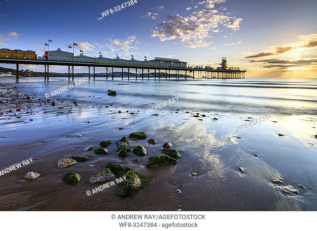 Paignton Pier captured shortly after sunrise on a morning in mid September