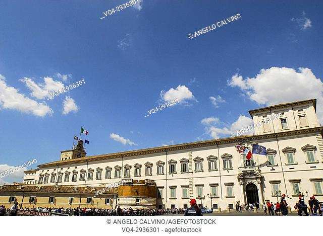 Quirinal Palace, Palazzo del Quirinale, official residence of the President, Rome, Italy