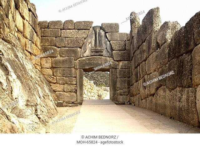 Haupttor der antiken Stadt Mykene