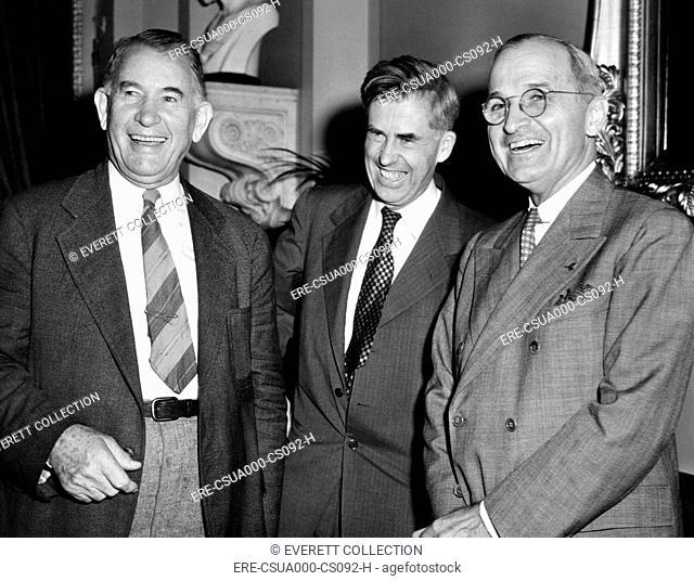 Three Vice Presidents. L-R: Alben Barkley, Henry Wallace, Harry Truman. Ca. 1940-44. CSU-ALPHA-174 CSU Archives/Everett Collection