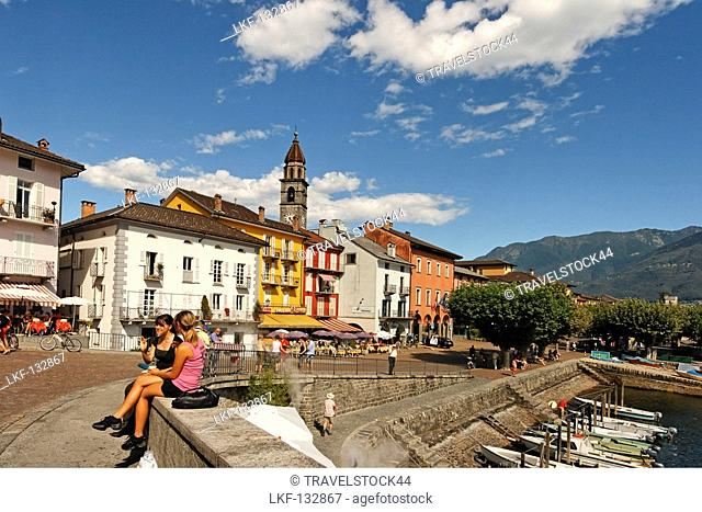 Switzerland, Ticino, Ascona Promenade