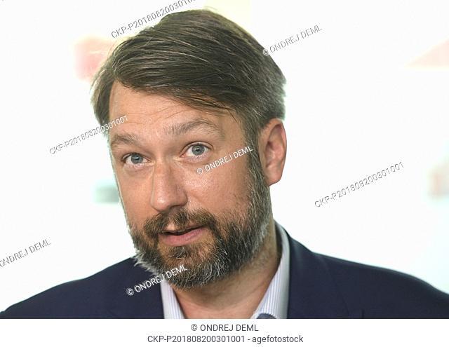 ***AUGUST 20, 2018, FILE PHOTO*** Deputy Defence Minister Jakub Landovsky will be the new Czech ambassador to NATO, replacing Jiri Sedivy