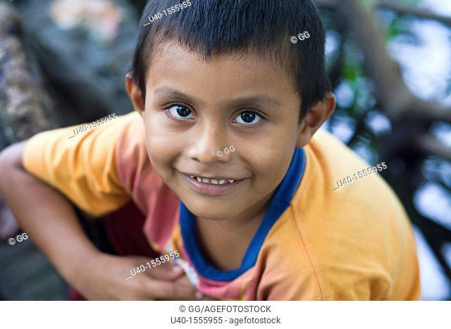 Portrait of a Latin boy