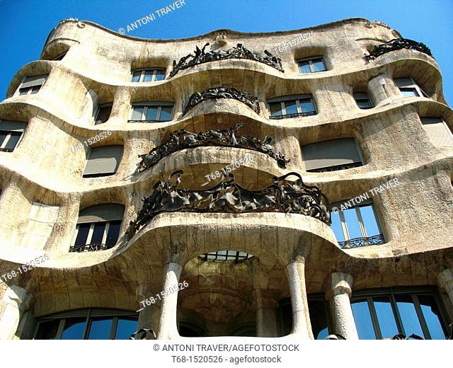 Casa Mila (aka La Pedrera) by Antoni Gaudí, Barcelona, Catalonia, Spain