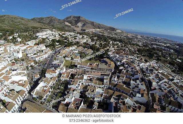 Benalmádena village aerial view, Málaga, Andalusia, Spain