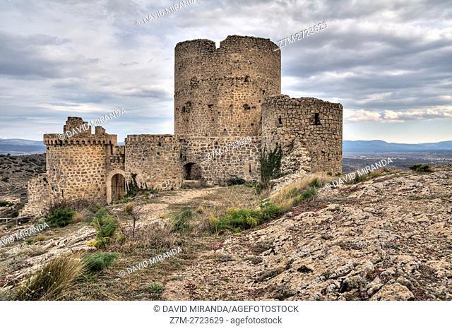 Moya Castle, Cuenca province, Castile la Mancha, Spain. Historic and Artistic Heritage