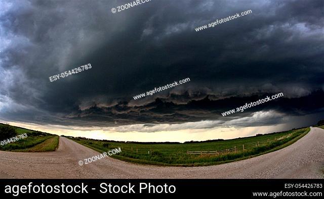 Prairie Storm Clouds Canada summer danger rural