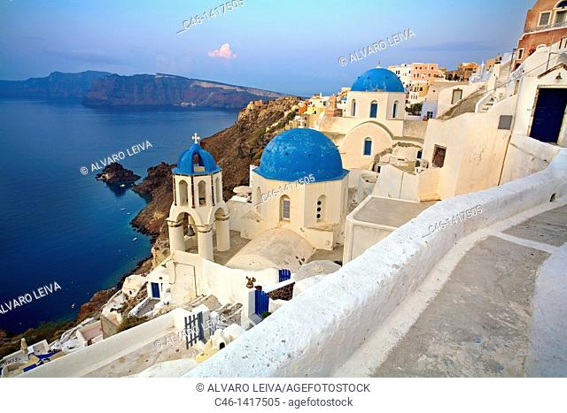 The village of Oia  Santorini, Cyclades Islands, Greece