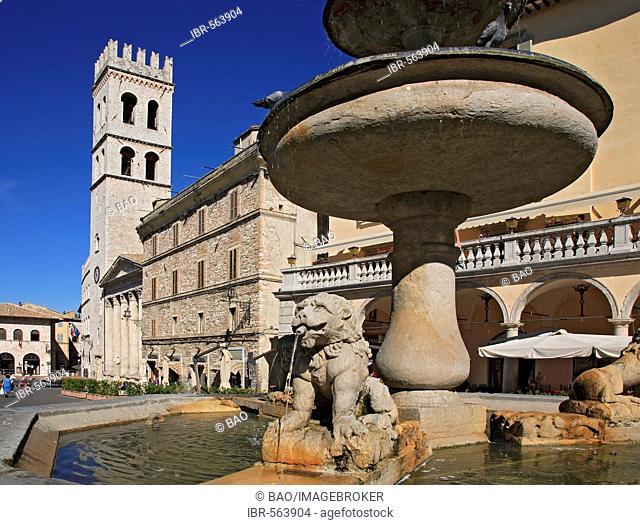 Church Santa Maria sopra Minerva at the Piazza del Comune, Assisi, Umbria, Italy