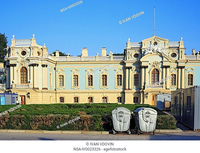 Mariyinsky Palace 1744, architect Bartolomeo Rastrelli, ceremonial residence of the President of Ukraine, Kiev, Ukraine