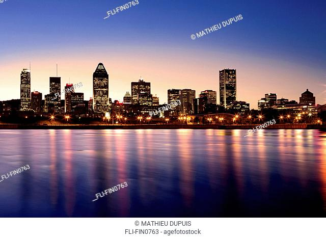 Montreal skyline from Mill Street near Bonaventure highway, Quebec
