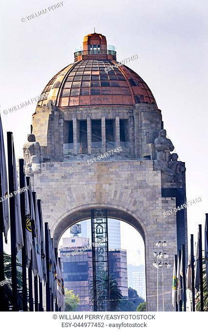 "1910 Revolution Monument Mexico City Mexico. Built in 1932 with the remains of many Revolutionary heroes. The elevator says """"Go Mexico"""""