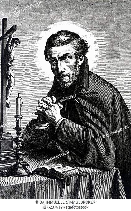 St Petrus Canisius engraving about 1900