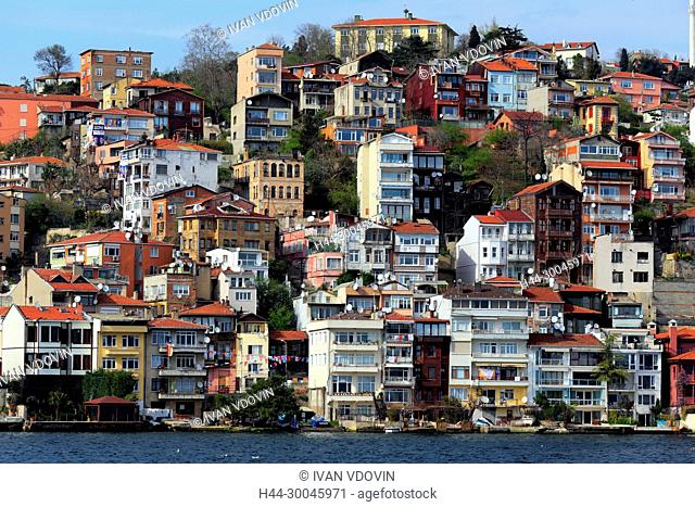 Cityscape from Bosphorus, Istanbul, Turkey