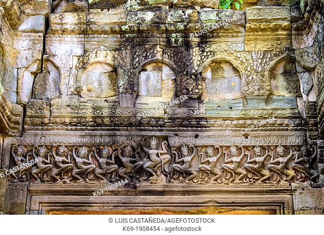 Preah Khan sometimes transliterated as Prah Khan, is a temple at Angkor, Cambodia, built in the 12th century for King Jayavarman VII  It is located northeast of...