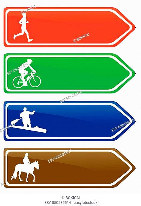 recreation board signs - vector