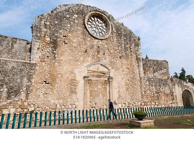 Italy, Sicily, Siracusa  Ruins of the Basilica Di San Giovanni