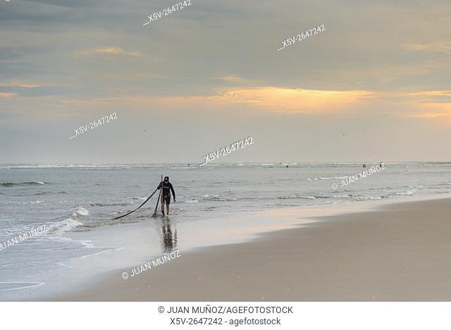 Beach Punta del Moral. Ayamonte. Huelva. Spain