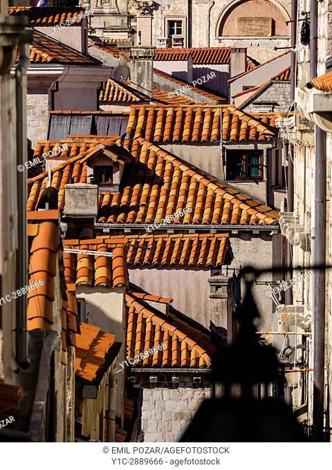Rooftops, Old town, Dubrovnik, croatia