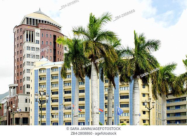 Place d'Armes, Port Louis, Mauritius, Indian Ocean, Africa