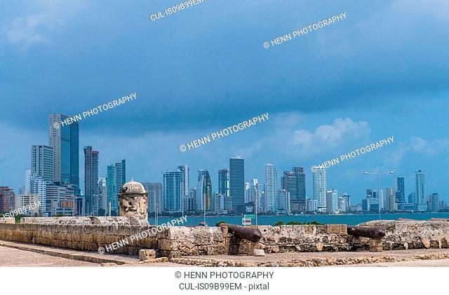 The skyline of Boca Grande in Cartagena, Bolivar, Colombia, South America
