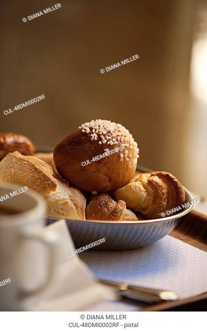 Bowl of breakfast pastries