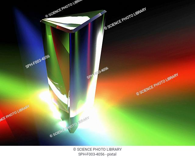 Prism, light spectrum