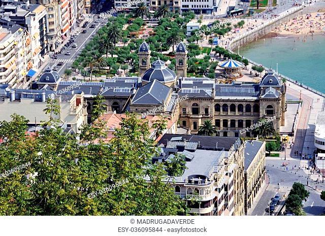 Buildings of Old Part of San Sebastian City, Spain