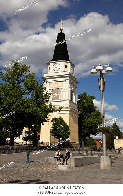 Finland, Region of Pirkanmaa, Tampere, City, Central Square, Neoclassical Old Church Bell Tower, Old Clock