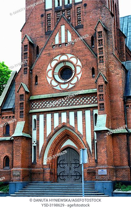 Lutheran Church of our Lord's Ascension, Evangelical Church of Augsburg Confession, its style resembles North German architecture, architect August Allert