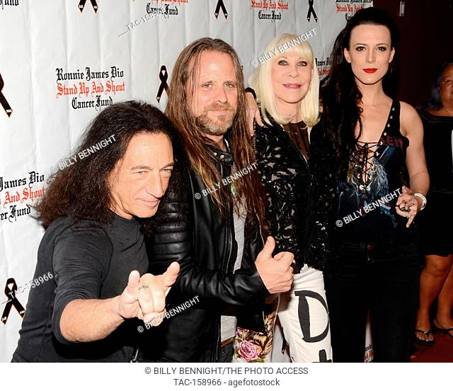 """Rock Feinstein, Chris Latham, Wendy Dio and Calico Cooper arrives at the 3rd Annual """"""""Bowl 4 Ronnie"""""""" Celebrity Bowling Tournament"""