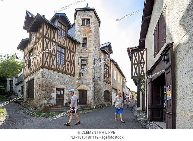 15th century Maison Bridaut in the medieval village Saint-Bertrand-de-Comminges, Haute-Garonne, Pyrenees, France