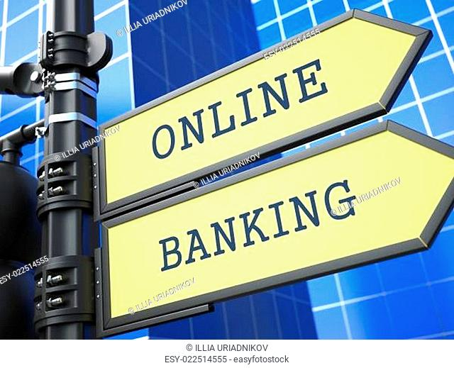 Business Concept. Online Banking Sign