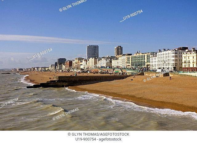 Brighton seafront, Brighton, East Sussex, England