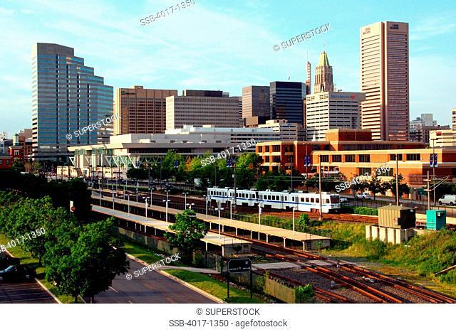 Baltimore Skyline from near Camden transit station