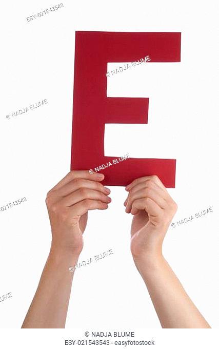 Hands Holding E