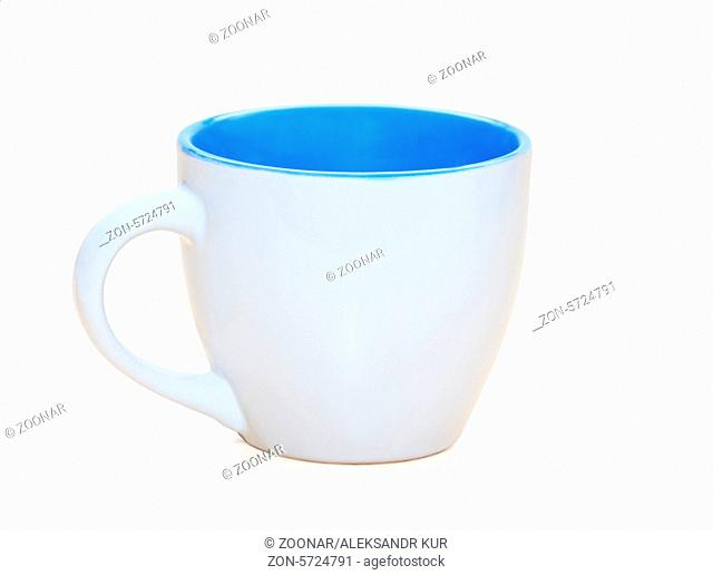 White coffee cup isolated over white background