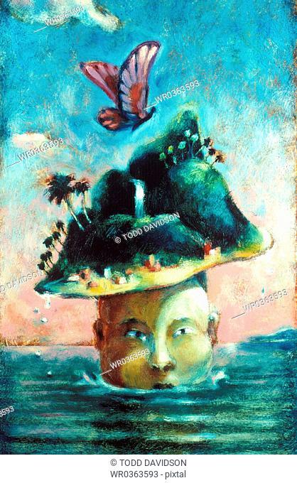 man as island