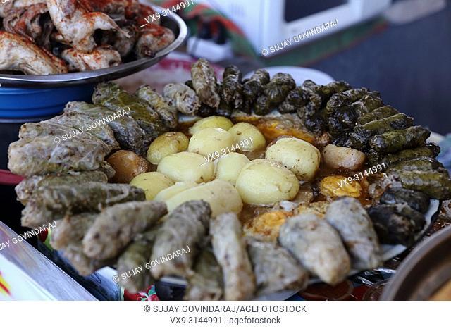Close shot of spiced up hosip, a uzbek regional non-vegetarian dish