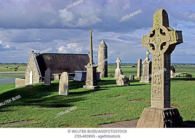 Monastery. Clonmacnois. Co. Offaly. Ireland