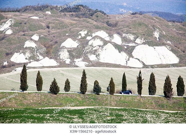 landscape, crete senesi, siena, tuscany, italy, europe