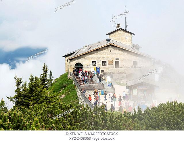 near Berchtesgaden, Bavaria, Germany. The Kehlsteinhaus, also known as the Eagle's Nest. The house was a 50th birthday present from the Nazi Party to Adolf...