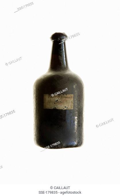 Bottle of vintage Rum 1830