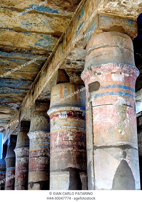 Karnak, Luxor, Egypt. Temple of Karnak sacred to god Amon: the Hall of Festivals in the Akh-Menu complex