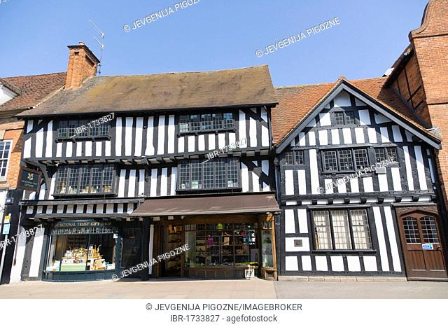 National Trust building on Wood Street, Stratford-upon-Avon, Warwickshire, England, United Kingdom, Europe
